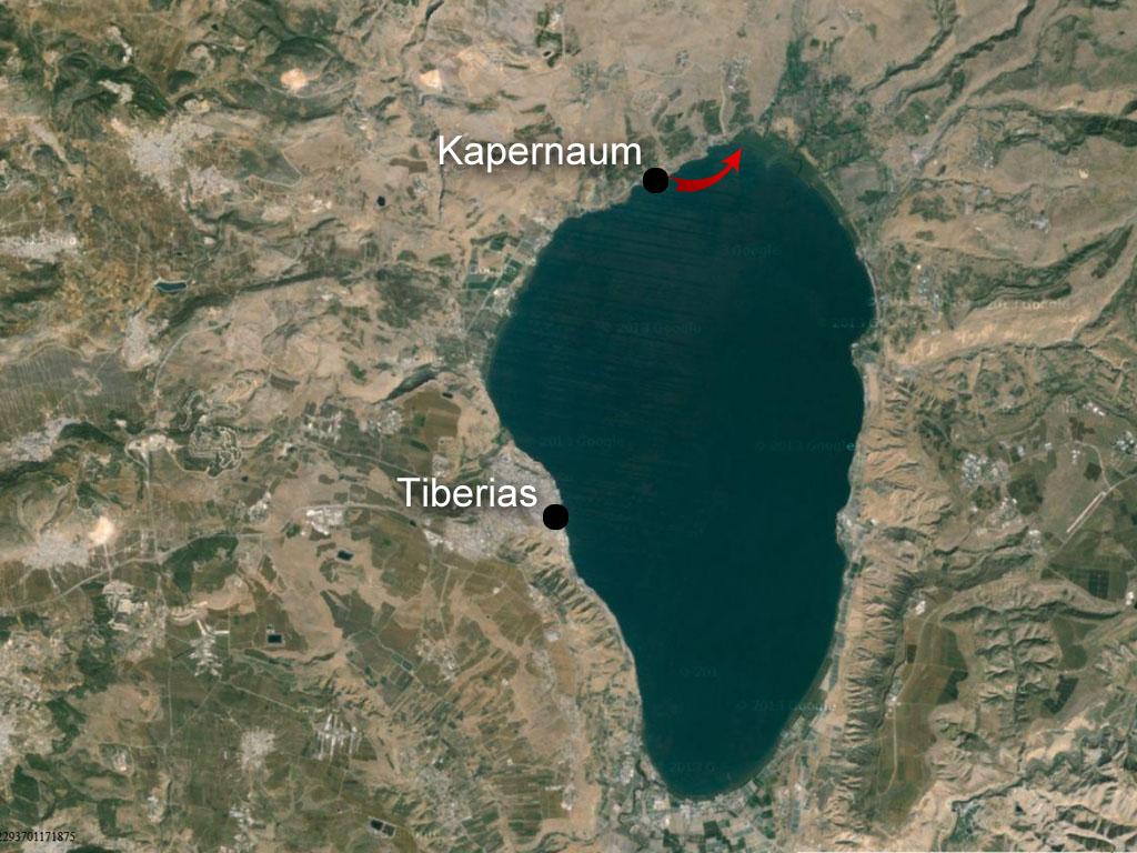 genesarets sjö karta Johannes | Kärnbibeln genesarets sjö karta