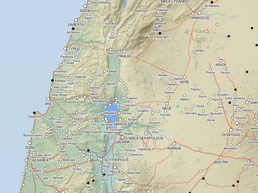 genesarets sjö karta Matteus | Kärnbibeln genesarets sjö karta